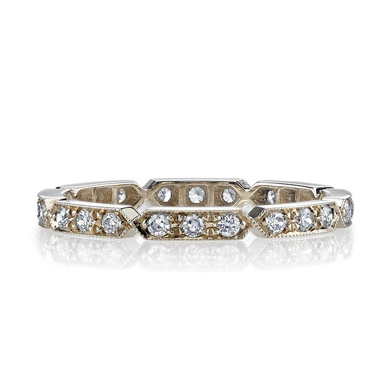 Women's Approx. 0.30 Carat Old European Cut Diamonds Set in a Gold Eternity Band For Sale