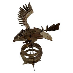 Handcrafted Iron Eagle Sculpture, 1970s