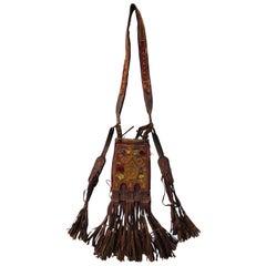 Hand-Crafted Leather Sahara Tribal Tuareg Berber Bag