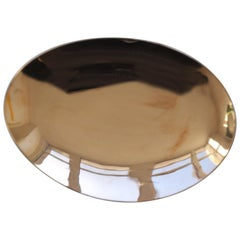 Handcrafted Polished Bronze Plate Vide Poche, Large
