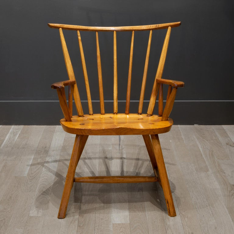 Handcrafted Primitive Stick Armchairs, circa 1930 For Sale 4