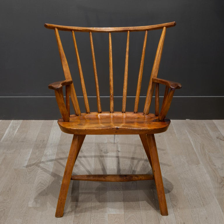 Handcrafted Primitive Stick Armchairs, circa 1930 For Sale 8