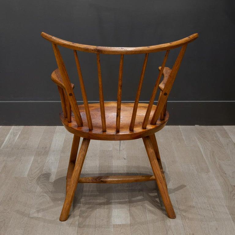 Handcrafted Primitive Stick Armchairs, circa 1930 For Sale 10