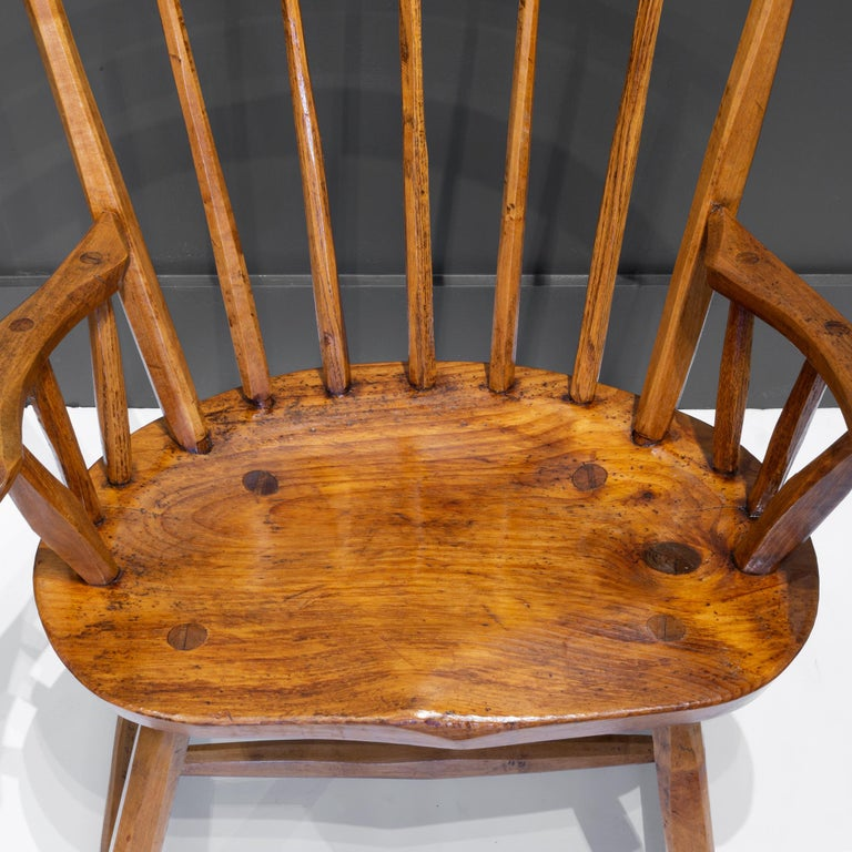 Handcrafted Primitive Stick Armchairs, circa 1930 For Sale 14