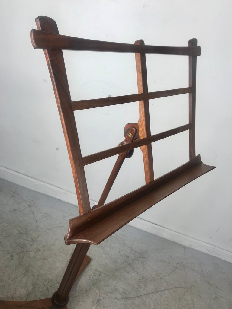 Handcrafted Rosewood Music Stand, Rochester Folk Art Guild after Wendell Castle For Sale 4
