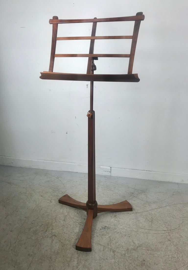 Handcrafted Rosewood Music Stand, Rochester Folk Art Guild after Wendell Castle For Sale 6