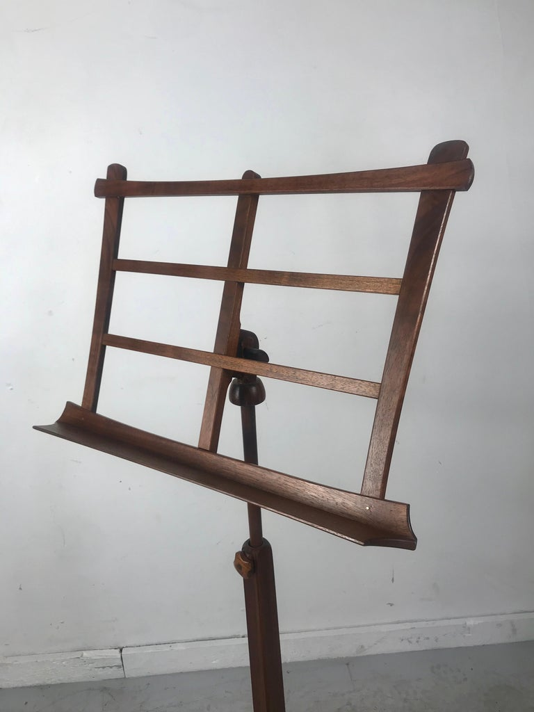 American Handcrafted Rosewood Music Stand, Rochester Folk Art Guild after Wendell Castle For Sale