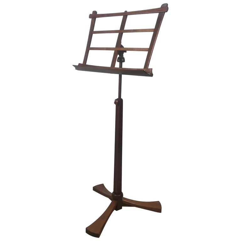 Handcrafted Rosewood Music Stand, Rochester Folk Art Guild after Wendell Castle For Sale
