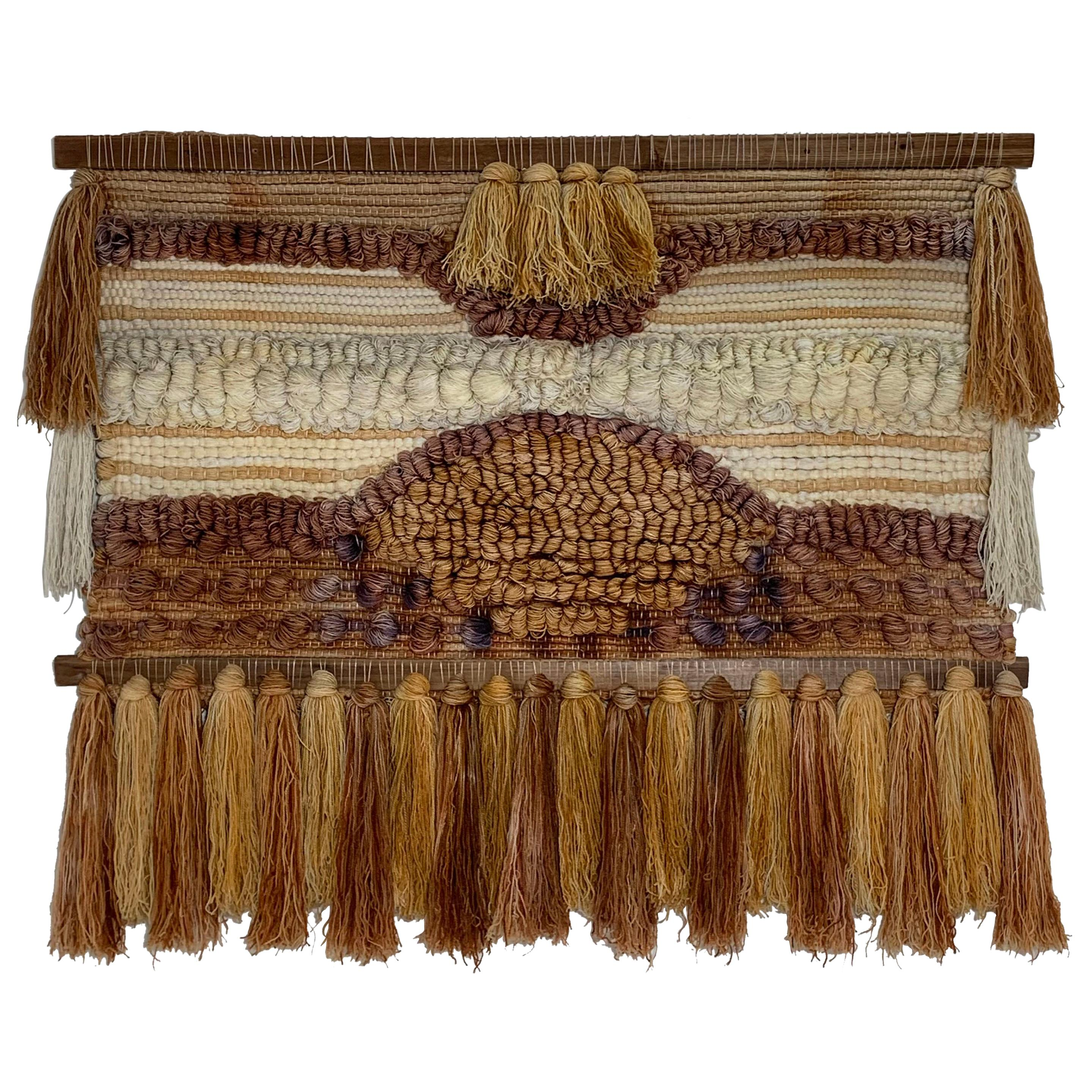 Handcrafted Textile Wall Hanging Weaving, circa 1970s