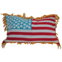 Hand Crochet Vintage Flag Pillow