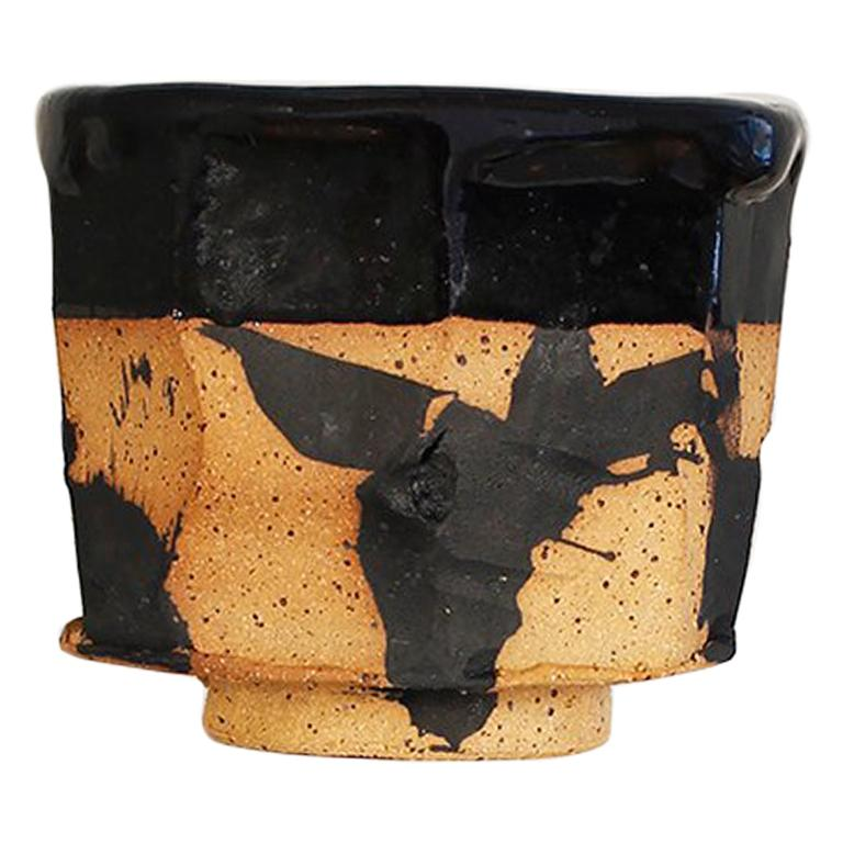 Hand Decorated Stoneware Humble Cup by Lincoln Mayne For Sale