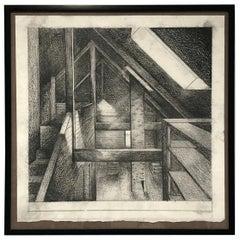 Hand Drawn Interior Rendering of Master Bedroom Renovation