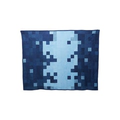 Hand-Dyed Indigo Canvas Quilt