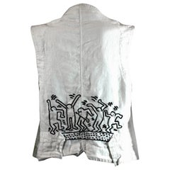 Hand Embroidered Victorian Vest, Keith Haring. Studio VL
