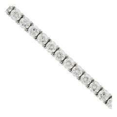 Hand Fabricated Platinum and Diamond Tennis Bracelet by Joseph Campanelli