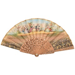 Hand Fan, Wood, Etc., 19th Century