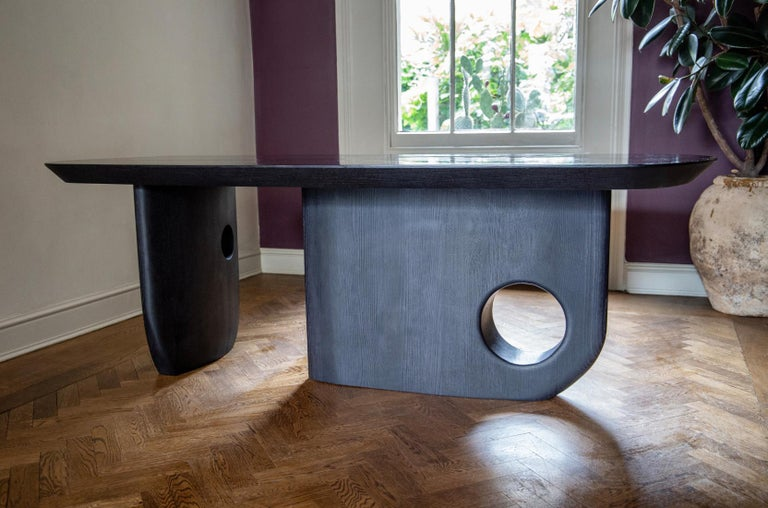Hand finished - Menhir Sculptural Dining Table Designed by Toad Gallery London For Sale 3