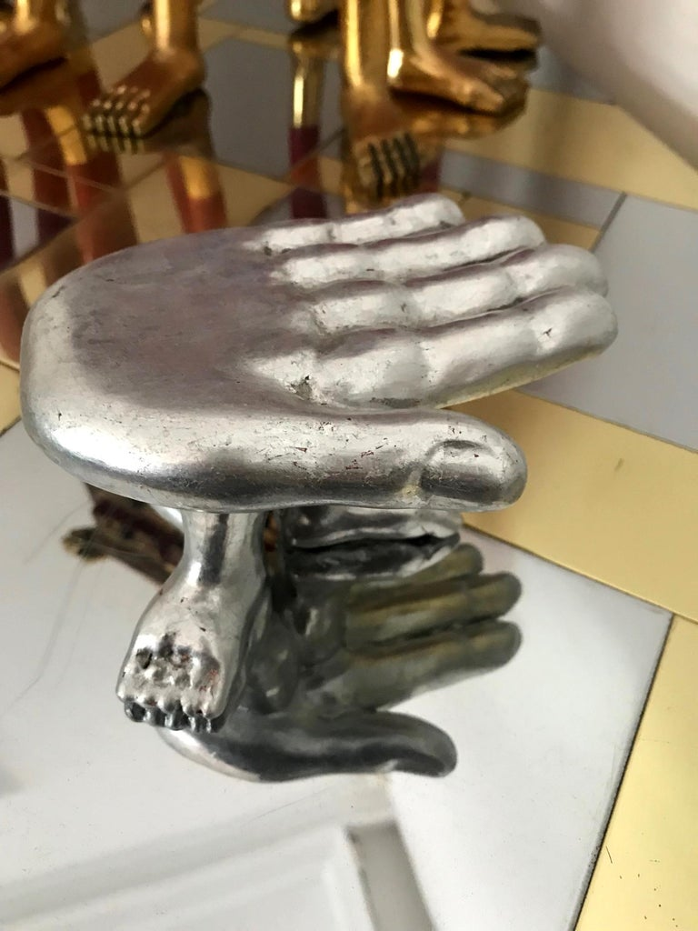 Mexican Hand Foot Chair Sculpture Pedro Friedeberg For Sale