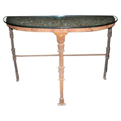 Hand Forged Demi-Lune Wrought Iron Console