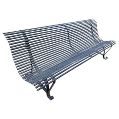 Hand Forged Iron Arras Style Garden Bench Seat antique furniture Los Angeles CA