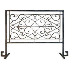 Hand Forged Iron Fireplace Screen