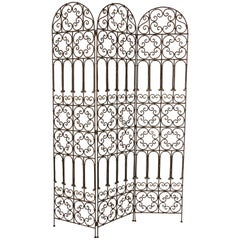 Hand Forged Iron Moorish Folding Screen