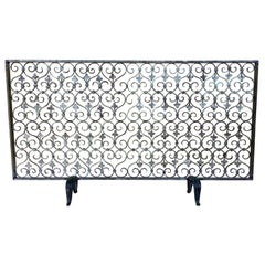 Hand Forged Mizner Fireplace Screen