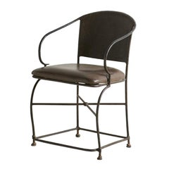 Hand Forged Sculptural Iron Accent Chair