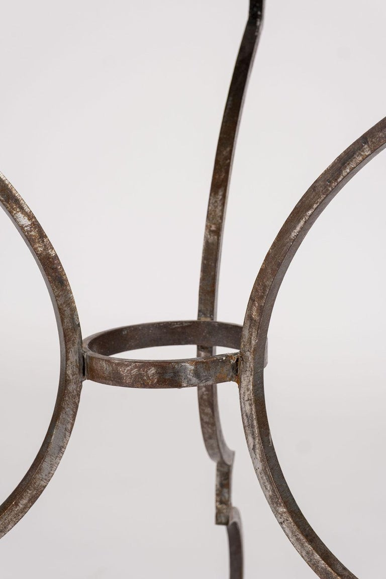Cast Hand Forged Steel Garden Table For Sale