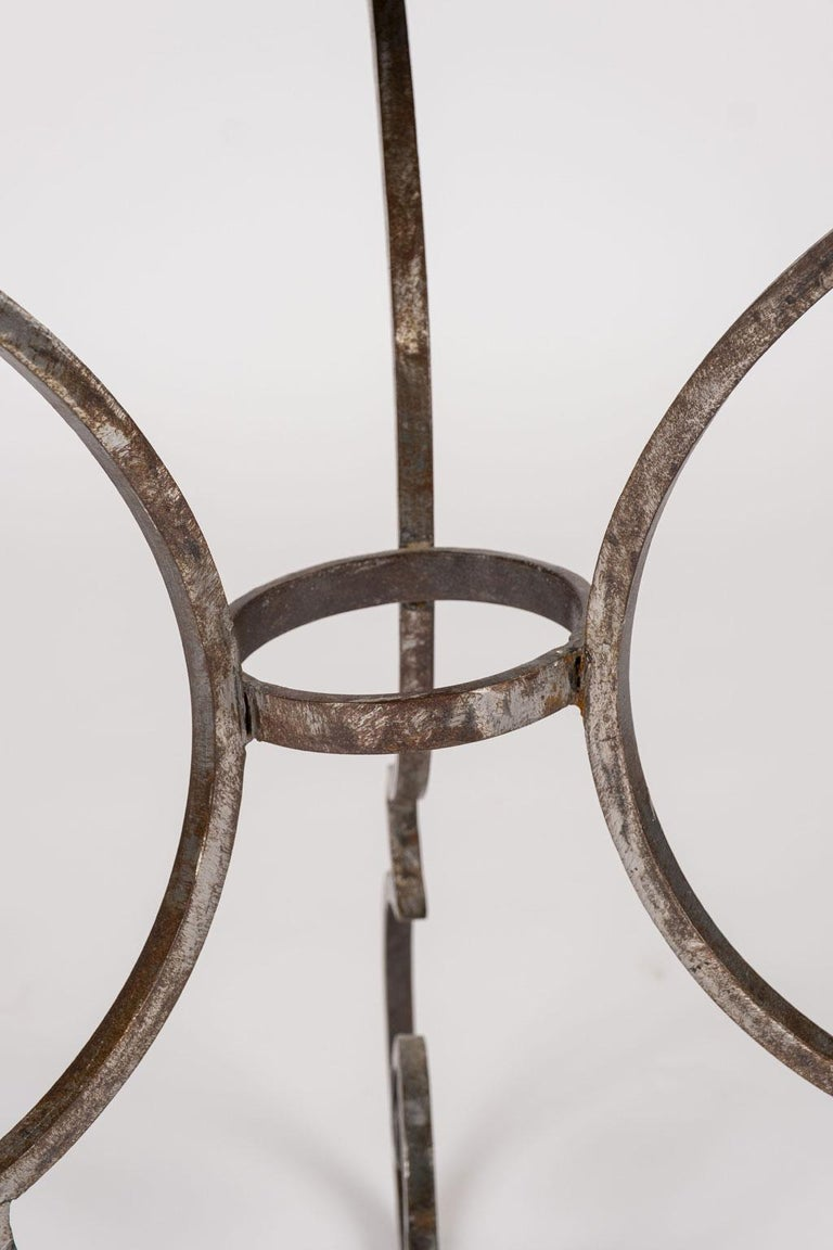 Hand Forged Steel Garden Table In Good Condition For Sale In Houston, TX