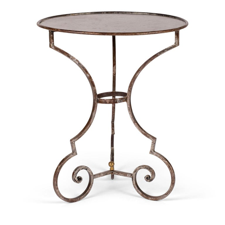 Hand Forged Steel Garden Table For Sale 1