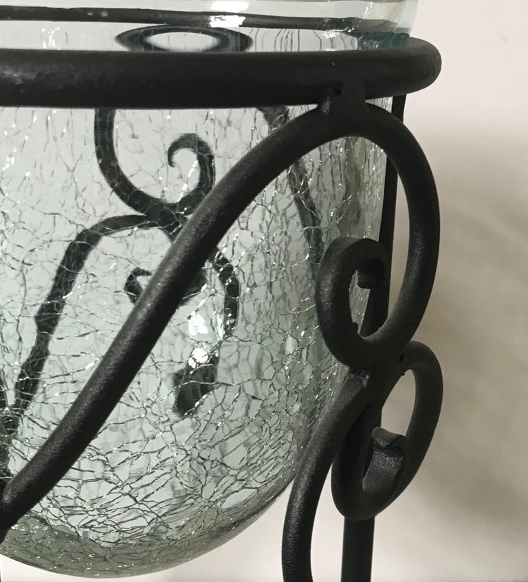 Hand-Forged Wrought Iron Candleholder  In Excellent Condition For Sale In London, GB