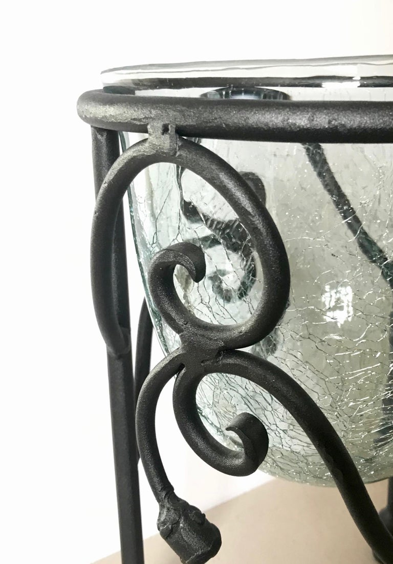 Contemporary Hand-Forged Wrought Iron Candleholder  For Sale