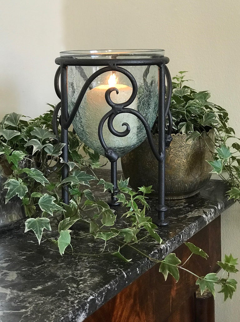 Hand-Forged Wrought Iron Candleholder  For Sale 2