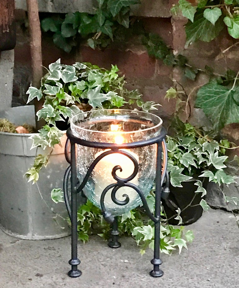 Hand-Forged Wrought Iron Candleholder  For Sale 3