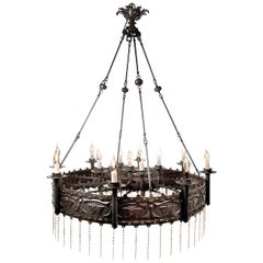 Hand Formed 13-Light Gothic Chandelier