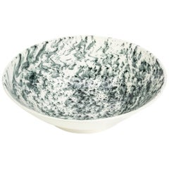 Hand Glazed Earthenware Medium Serving Bowl with Unique Contemporary Design
