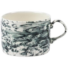 Hand Glazed Earthenware Mug with Unique Contemporary Design