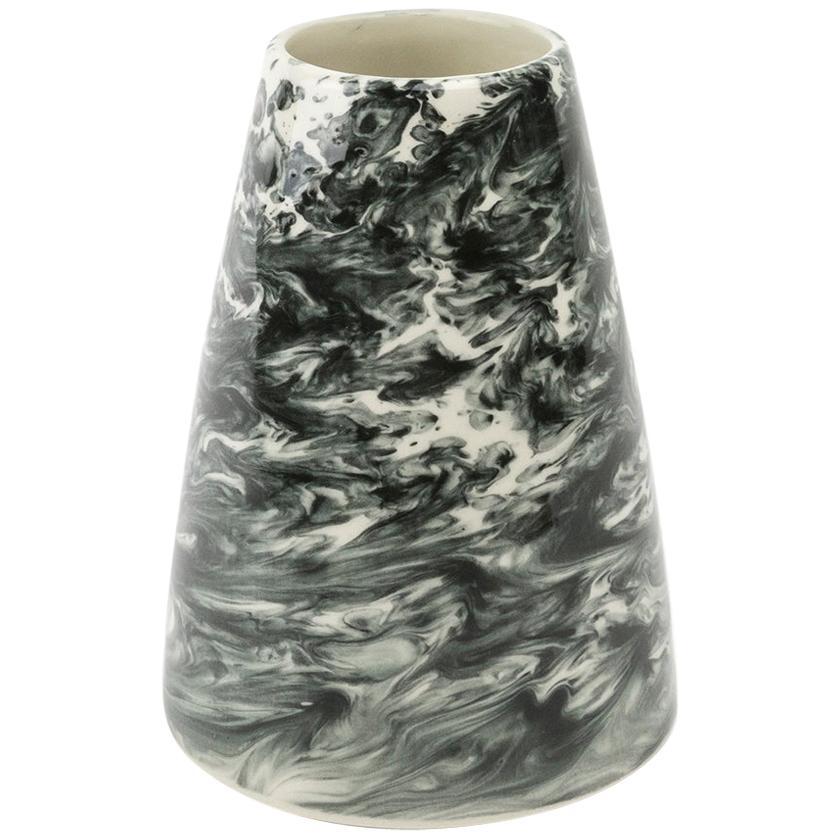 Hand Glazed Earthenware Small Vase with Unique Contemporary Design