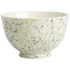 Hand Glazed Fine Bone China Bowl with Expressionist Design