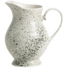 Hand Glazed Fine Bone China Jug with Expressionist Design