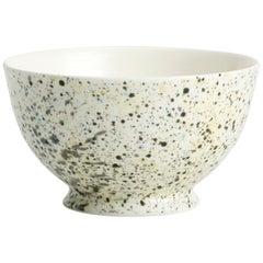 Hand Glazed Fine Bone China Sugar Bowl with Expressionist Design