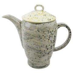 Hand Glazed Fine Bone China Teapot with Expressionist Design