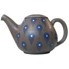 Hand Glazed Stoneware Teapot from Melle Keramik, Denmark, 1960s