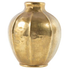 Hand-Hammered Brass Vase by Georges Capon