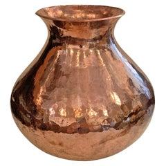 Hand-Hammered Copper Vase