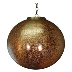 Hand-Hammered Moroccan Large Scale Lantern