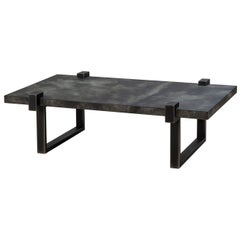 Hand-Hammered Steel Coffee Table