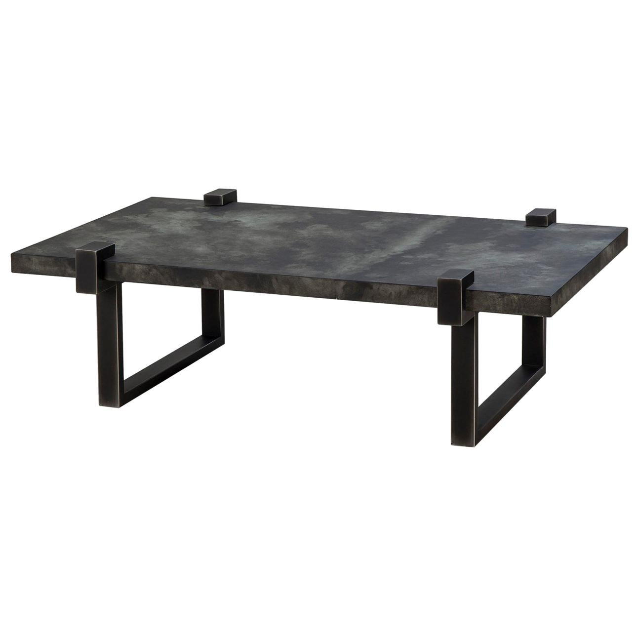 Hand Hammered Steel Coffee Table