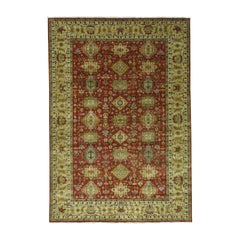 Hand Knotted 100 Percent Wool Karajeh Oriental Rug
